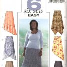 Butterick Sewing Pattern 4086 Womens Plus Size 16W-20W Easy Pull-on Asymmetrical Hemline Skirt