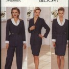 Butterick Sewing Pattern 4095 Misses Size 12-14-16 Button Front Jacket Straight Skirt Pants Suit