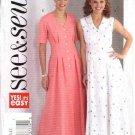 Butterick Sewing Pattern 4103 Misses Size 8-10-12 Easy Button Front Dress