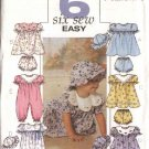 Butterick Sewing Pattern 4110 Baby Infant Size 13-29 lbs. Classic Dress Panties Hat Jumpsuit Romper
