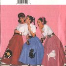 Butterick Sewing Pattern 4114 Misses Size 6-8-10-12 Poodle Skirts Petticoat Costume