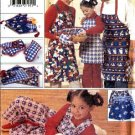 Butterick Sewing Pattern 4119 Christmas Kitchen Gift Oven Mitts Aprons Boxer Shorts Pillow Cover