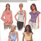 Butterick Sewing Pattern 4132 Misses Size 20-22-24 Easy Pullover Cowl Neck Top Tunic Belt