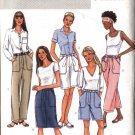 Butterick Sewing Pattern 4137 Misses Size 6-8-10 Easy Straight Skirt Shorts Cropped Long Pants