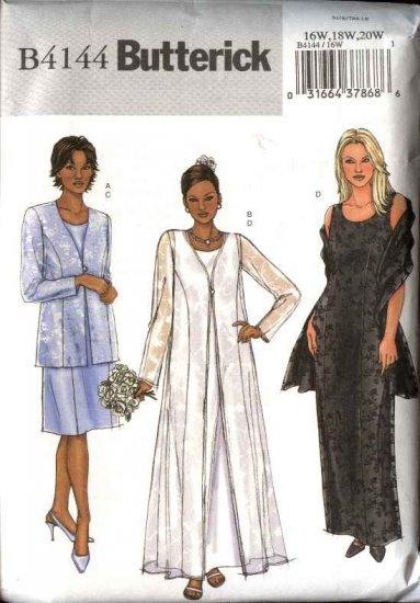 Butterick sewing pattern 4144 womans plus size 16w 20w for Plus size wedding dress sewing patterns