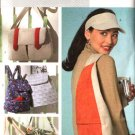 Butterick Sewing Pattern 4147 B4147 Head Visor  Backpack Tote Messenger Fishermans Bags