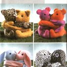 Butterick Sewing Pattern 4153 Stuffed Animals Hugging Pals Bears Kittens Bunnies Puppies