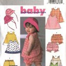 Butterick Sewing Pattern 4170 Infant Baby Girls Size 8-21 lbs. Easy Dress Jumper Panties Hat