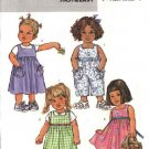 Butterick Sewing Pattern 4172 Toddler Girls Size 1-4 Easy Dress Jumper Jumpsuit Romper