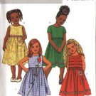Butterick Sewing Pattern 4174 Girls'  Size 2-3-4-5 Easy Classic Sleeveless Short Sleeve Dresses