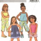 Butterick Sewing Pattern 4175 Girls Size 2-3-4-5 Easy Summer Wardrobe Top Dress Pants Shorts