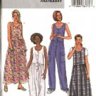 Butterick Sewing Pattern 4187 Misses Size 8-10-12 Easy button Front Jumper Dress Jumpsuit