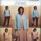 Butterick Sewing Pattern 4817 Womans Plus Size 26W-32W Easy Wardrobe Jacket Vest Top Skirt Pants