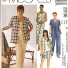 McCall's Sewing Pattern 2208 Womans Plus Size 22W-26W Easy Wardrobe Dress Top Jacket Pants