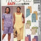 McCall's Sewing Pattern 4097 Womans Plus Size 18W-24W Easy Summer Wardrobe Tops Pants Shorts