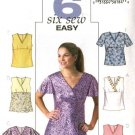 Butterick Sewing Pattern 4191 Misses Size 6-8-10 Easy Back Button Tops Blouses