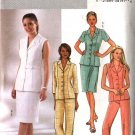 Butterick Sewing Pattern 4196 Misses Size 18-20-22 Easy Button Front Top Jacket Skirt Pants Suit