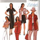 Butterick Sewing Pattern 4197 Misses Size 8-10-12 Easy Wardrobe Shirt Dress Pants Shorts Hat