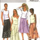 Butterick Sewing Pattern 4234 Misses Size 12-14-16 Easy Flared Short Long Seaming Details Skirts