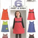 Butterick Sewing Pattern 4273 Girls Size 2-3-4-5 Easy Embellished Jumper