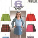 Butterick Sewing Pattern 4276 Girls Size 2-3-4-5 Easy Skorts Front Variations
