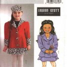 Butterick Sewing Pattern 4278 B4278 Girls Size 2-5 Lauren Scott Winter Fall Jacket Skirt Hat