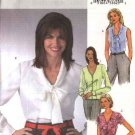 Butterick Sewing Pattern 4285 Misses Size 6-8-10-12 Easy Classic Button Front Tie Blouses