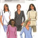 Butterick Sewing Pattern 4290 Misses Size 4-14 Easy Classic Pullover Knit Short Long Sleeve Top