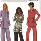 Butterick Sewing Pattern 4296 Misses Size 4-14 Easy Pullover Long Sleeve Tunic Top Pants Belt