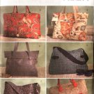 Butterick Sewing Pattern 4318 Large Fashion Tote Bags Pocketbooks Purse Handbag