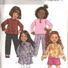 Butterick Sewing Pattern 4334 B4334 Girls Size 2-5 Easy Wardrobe Pullover Top Dress Skirt Pants