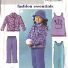 Butterick Sewing Pattern 4335 Girls Size 6-8 Easy Fleece Jacket Jumper Snow Pants Jumpsuit Hat