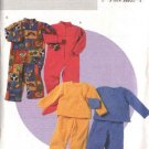Butterick Sewing Pattern 4337 Boys Girls Size 2-3-4-5 Easy Loungewear Footed Sleepers Pajamas