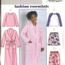 Butterick Sewing Pattern 4340 Girls Size 7-14 Easy Sleepwear Robe Pullover Pajama Top Shorts Pants