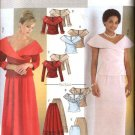 Butterick Sewing Pattern 4344 Misses Size 8-14 Formal Off Shoulder Top Long Skirt Two-Piece Dress