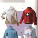 Butterick Sewing Pattern 4346 Misses Size 4-14 Easy Fleece Embellished Top Scarf