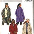 Butterick Sewing Pattern 4352 Misses Size 16-22 Easy Button Front Unlined Fleece Wool Jacket Hat