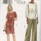 Vogue Sewing Pattern 7883 Misses Size 14-16-18 Easy Top Shorts Pants