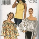 Vogue Sewing Pattern 8032 Misses Size 8-10-12-14 Easy Peasant Halter Tops