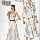 Vogue Sewing Pattern 8179 Misses Size 14-16-18-20 Easy Double Breasted Jacket Sleeveless Dress