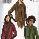 Vogue Sewing Pattern 8123 Misses sizes 8-10-12-14 Easy  Button Front Raglan Sleeve Jacket