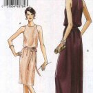 Vogue Sewing Pattern 8241 Misses Size 14-16-18-20 Easy Formal Pullover Lined Long Short Dress