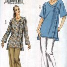 Vogue Sewing Pattern 8501 Misses Size 16-26 Easy Button Front Tunic Top Long Cropped Pants