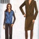 Vogue Sewing Pattern 8523 Misses Sizes 14-16-18-20 Easy Double Breasted Jacket Vest Skirt Pants