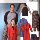 Butterick Sewing Pattern 4358 Boys Size 3-6 Easy Wrap Front Robe Pullover Top Shorts Pants Pajamas