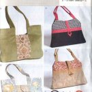 Butterick Sewing Pattern 4364 B4364 Three Lined Fashion Handbags Purses Pocketbooks Bags