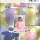 Butterick Sewing Pattern 4378 Infants' Babies PR-XL Decorated Hooded Sack Bunting Puppet Mitt
