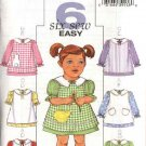 Butterick Sewing Pattern 4379 Girls Size 1-2-3-4 Easy Classic Decorated Pinafore Dress