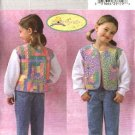 Butterick Sewing Pattern 4380 Girls Size 6-7-8 Easy Patchwork Quilted Sweatshirt Jacket