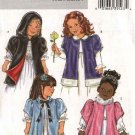 Butterick Sewing Pattern 4382 B4382 Girls Size 2-5 Easy Hooded Short Sleeve Cloak Jacket